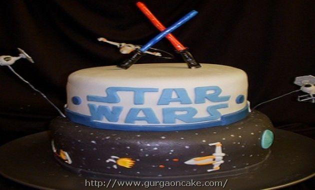 Wondrous Star Wars Lightsaber Birthday Cake Star Wars Birthday Cake Star Funny Birthday Cards Online Sheoxdamsfinfo