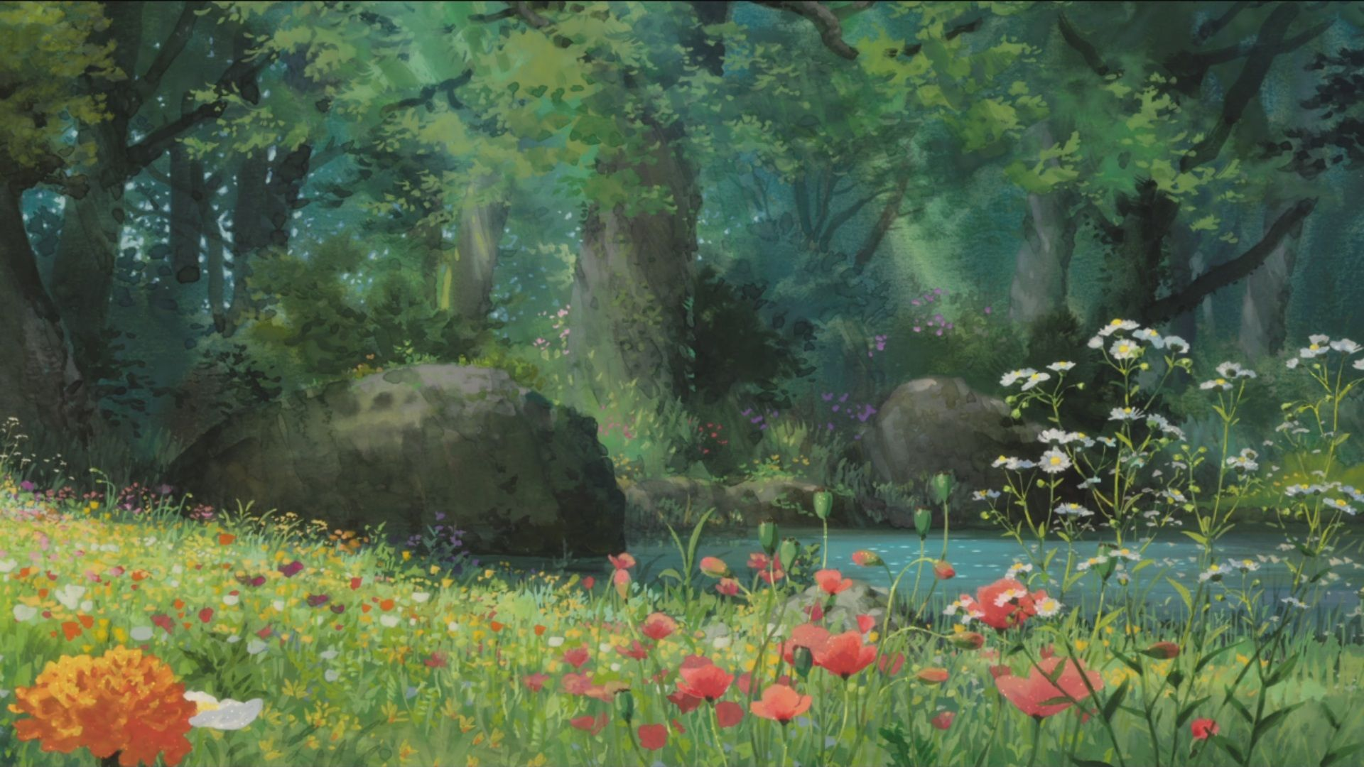 Https Www Google Co Th Blank Html Anime Scenery Studio Ghibli Background Landscape Poster