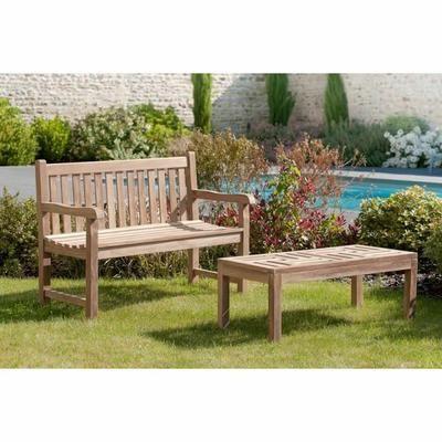 Table basse en teck de jardin 100 x 50 cm JARDITECK ...
