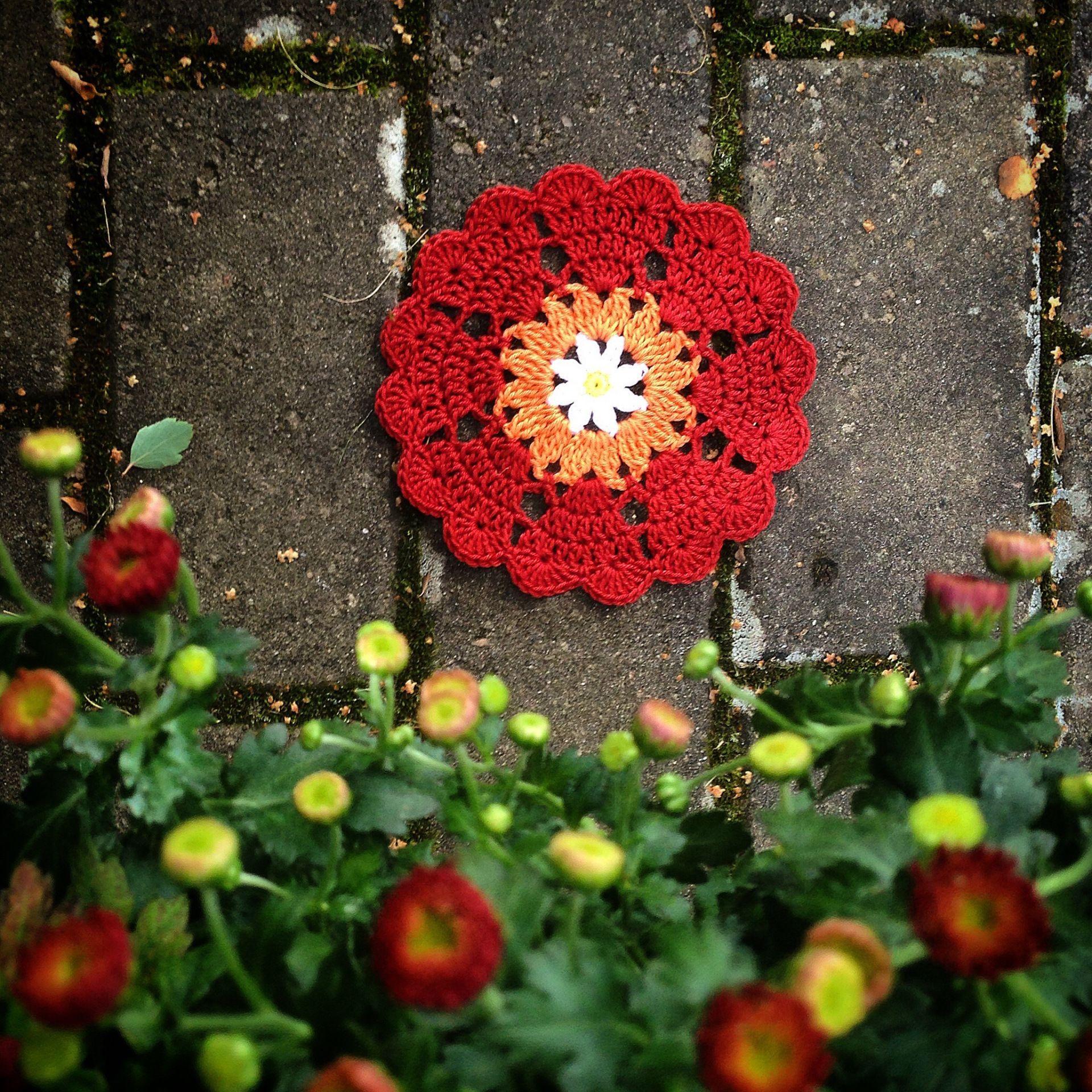 Heart coasters in US terms | Crochet Millan