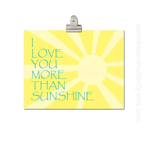 Sunshine Print - Kids Wall Art, Children\'s Art Print Poster, 11x14 ...