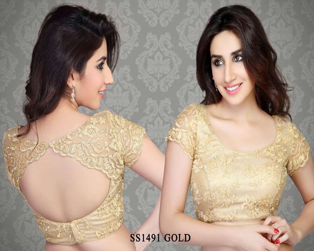 Beige golden brocade blouse blouse designs blouse designs for sarees - Gold Cotton Silk Fabric Saree Blouse Http Rajasthanispecial Com Index Saree Blouse Designssari