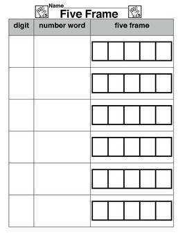 Five Frame Worksheet Math Number Sense Math Work Stations 10 Frame Activities For Kindergarten Five frame worksheets for kindergarten