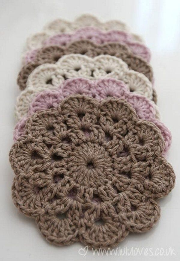 Beautiful Crochet Coasters. Crochet these beautiful coasters that ...
