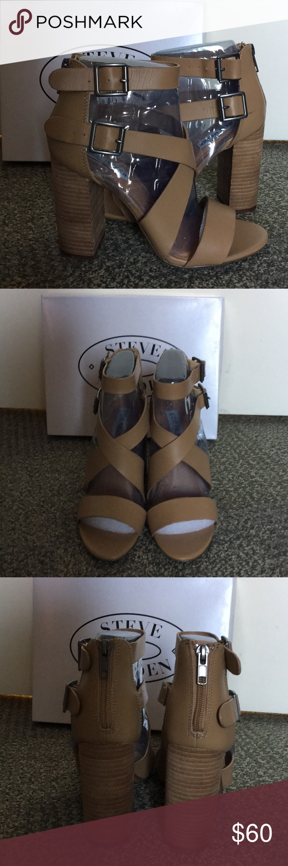 c543a9a836b Steve Madden Sundance Natural Leather sandal Unworn block heeled sandal.  Dress up or down. New in box. Steve Madden Shoes Sandals
