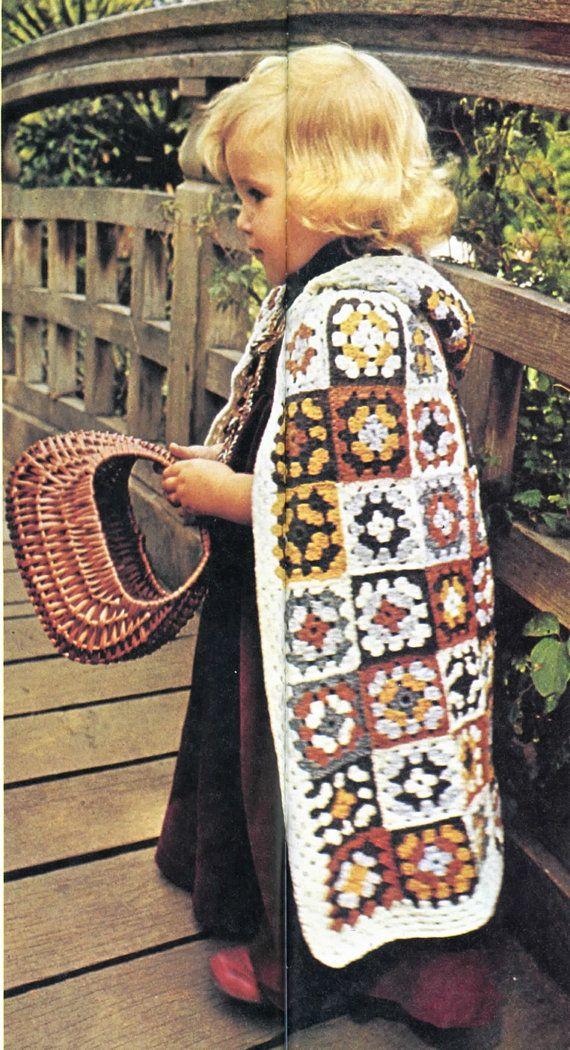 Enchanting Granny Squares Cape - Crochet Pattern | Mantita bebe ...