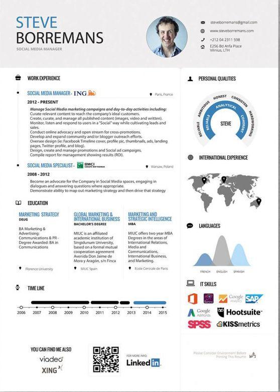 CV Social Media Manager - Modèle CV sur mesure moderne ...