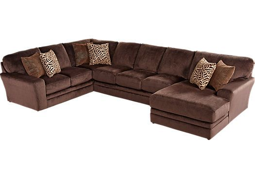Bedford Avenue Chocolate 3 Pc Sectional 1 488 00 166 5w