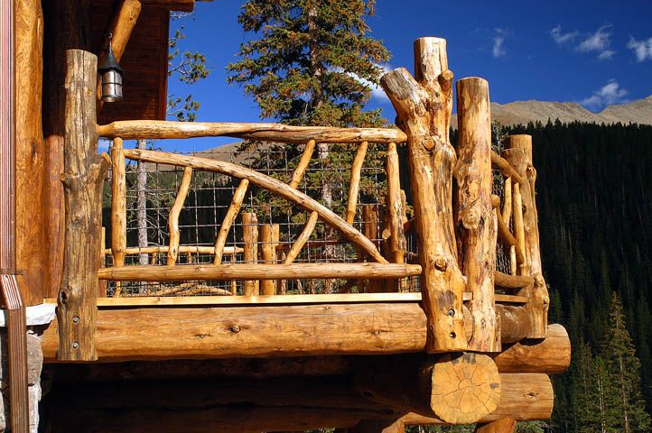 Rustic Log Railing And Spindles Patio Deck Porch Ideas Pinterest Logs Cabin And Porch