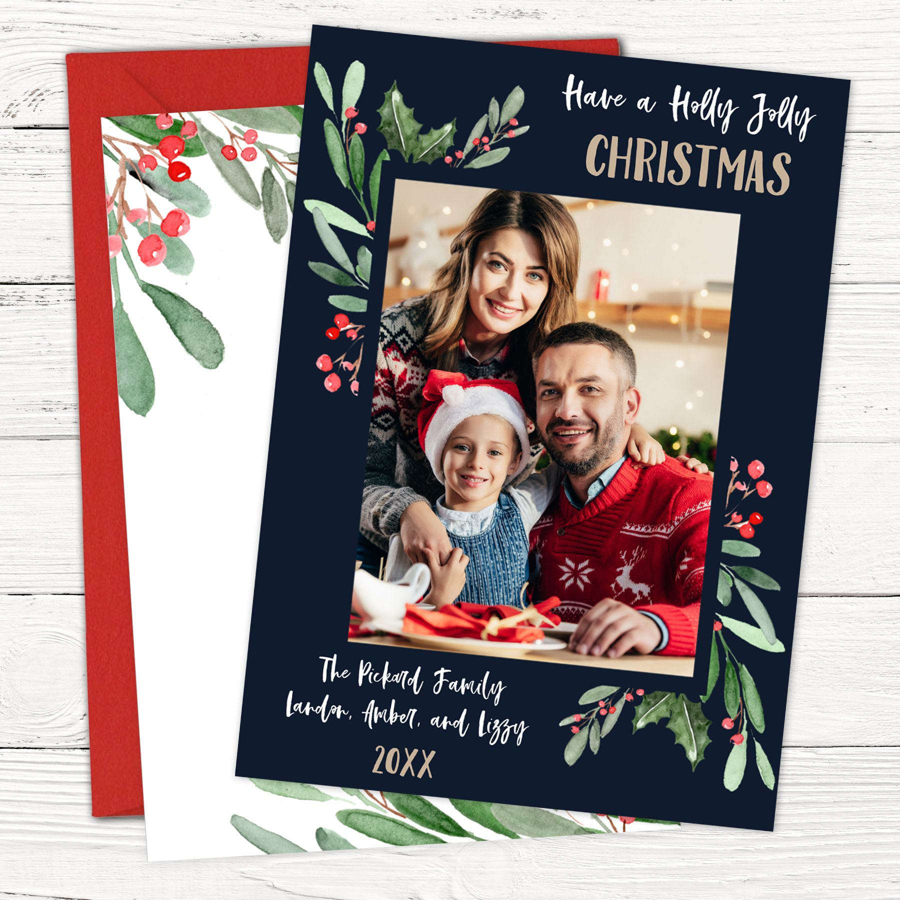 Personalized Family Christmas Card Funny Photo Christmas Card Etsy Family Christmas Cards Christmas Photo Cards Photo Insert Christmas Cards