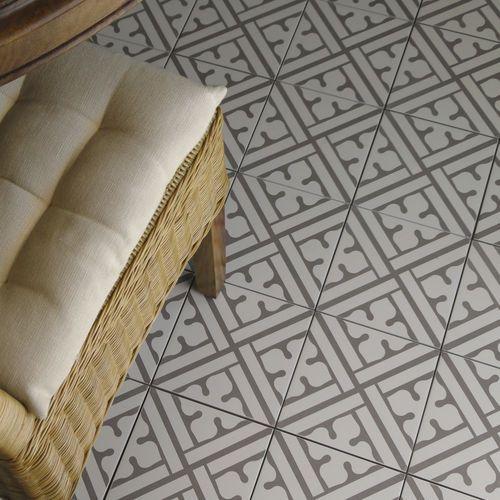 carrelage de sol en gr s c rame poli motif victorien neocim classic noir b kerion. Black Bedroom Furniture Sets. Home Design Ideas