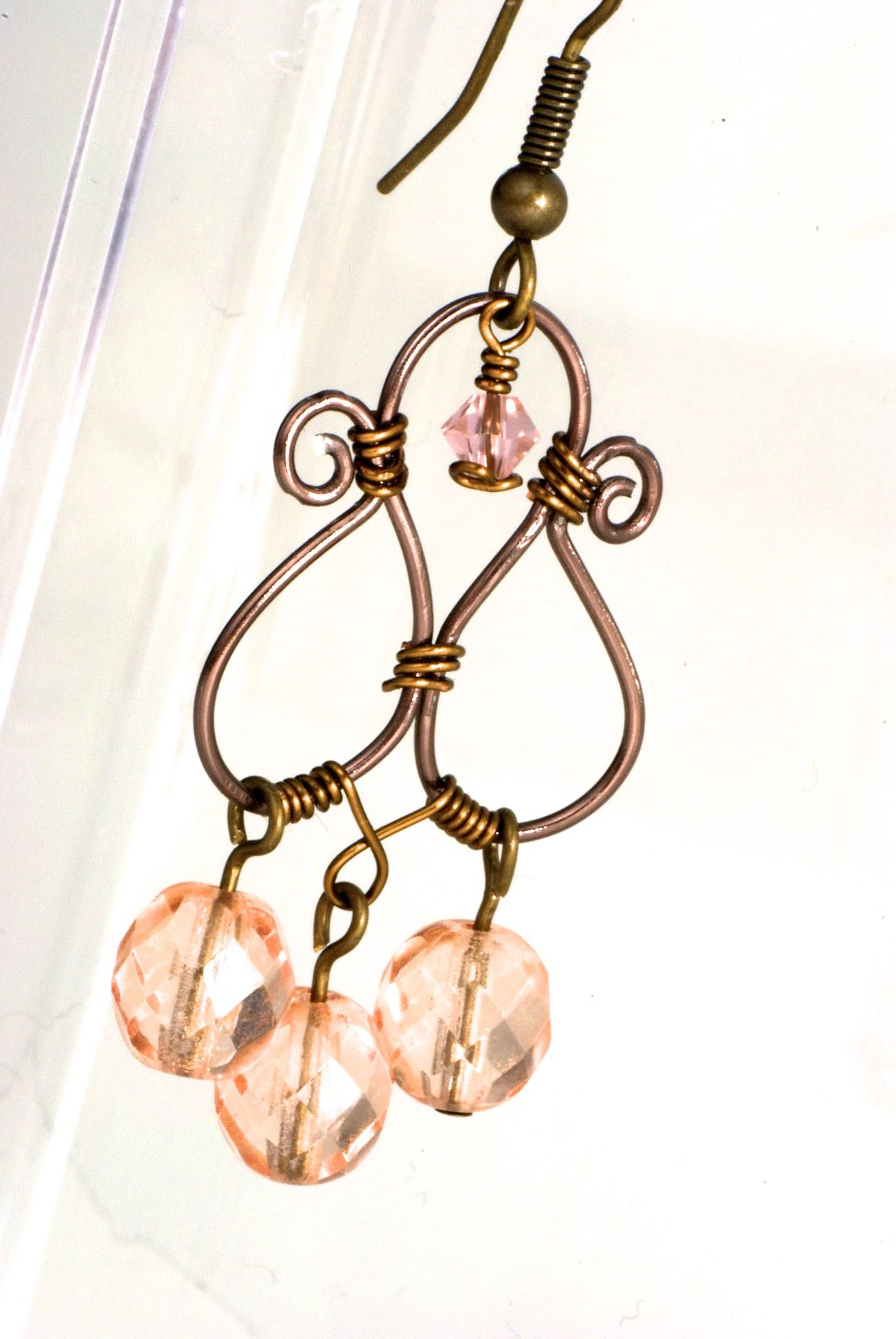 Wire Wrapped Earrings | Stuff I actually made myself | Pinterest ...