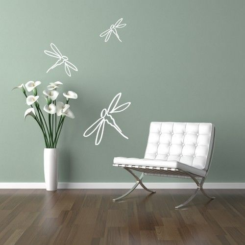 Dragonfly VINYL WALL DECALS - Set of 3 - 12 inch, 8 inch and 6 inch. $12.99, via Etsy.