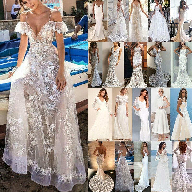 Damen Spitzenkleid Abendkleid Festlich Kleider Hochzeit Brautjungfern Partykleid