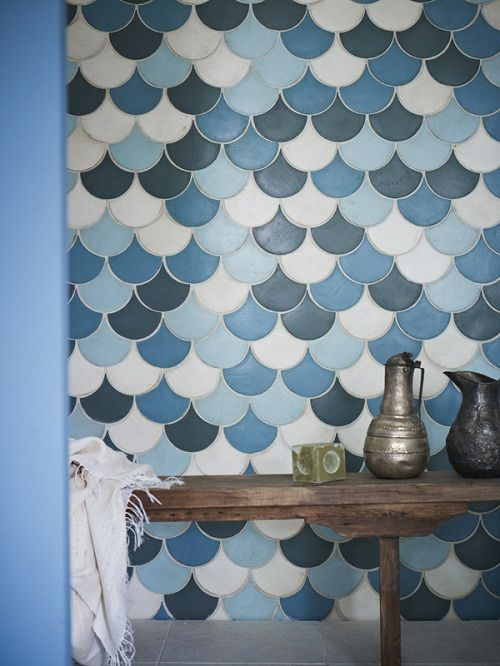 Looove Blue Scalloped Tiles Shot By Stylist Louisa Grey
