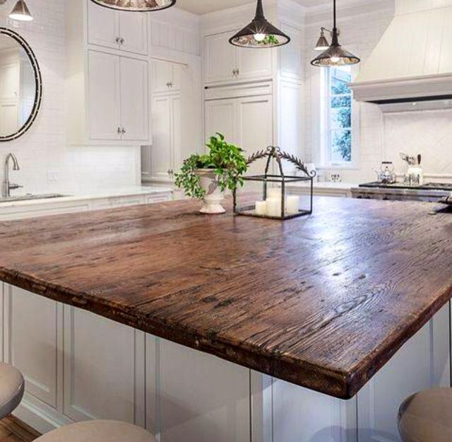Love This Rustic Timber Kitchen Bench Top.