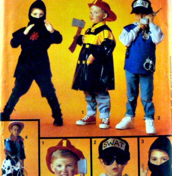 Simplicity Pattern 8644 Boys Costumes Ninja by VintageNeedleFinds,
