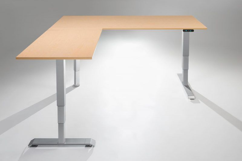 The Mod E Pro Electric L Shaped Standing Desk Multitable