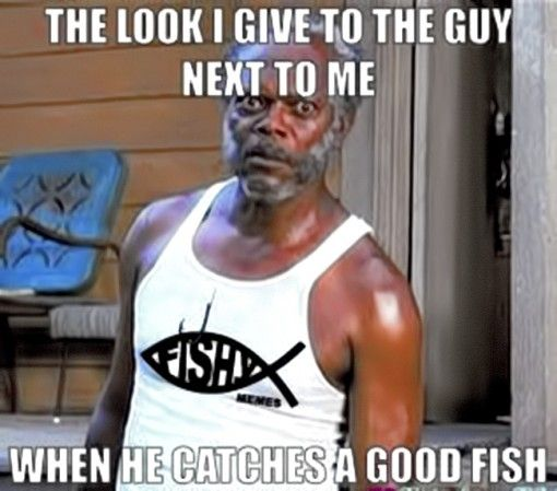 The Look I Give The Guy Next To Me Funny Fishing Memes Fishing