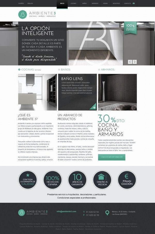 modern furniture website by Pablo Chavida, via Behance