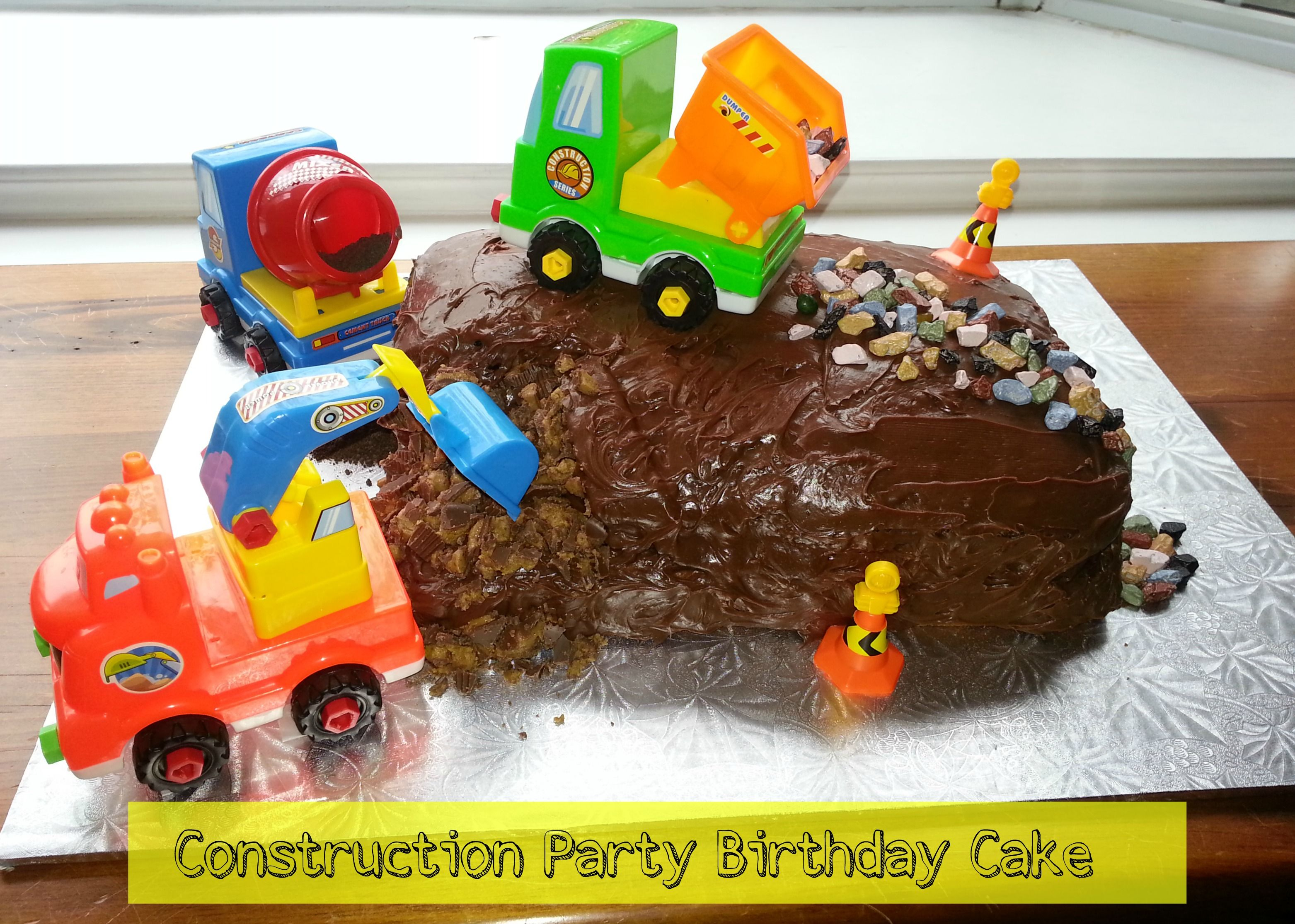 Birthday Party Ideas Construction Party Birthday Cake Pinterest