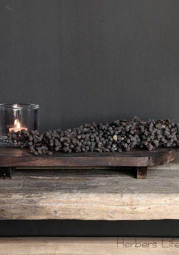 Donker houten broodplank