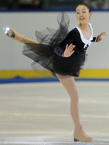 Mao Asada -Black Figure Skating / Ice Skating dress inspiration for Sk8 Gr8 Designs.