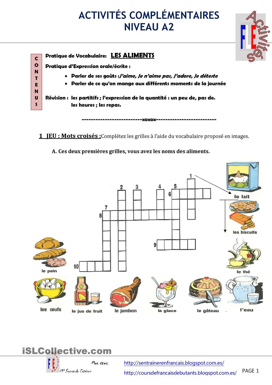 Les aliments - Vocabulaire cuisine allemand ...