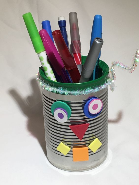 Learn how to make a build-a-bot pencil holder for Time Lab ...