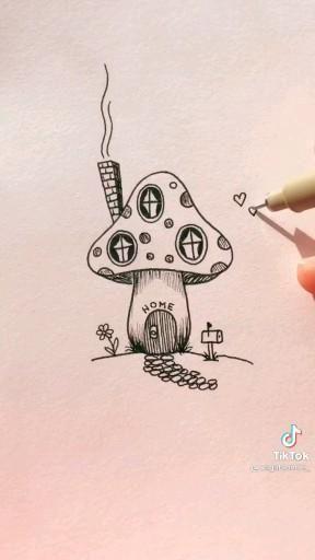 Como desenhar um cogumelo 🍄