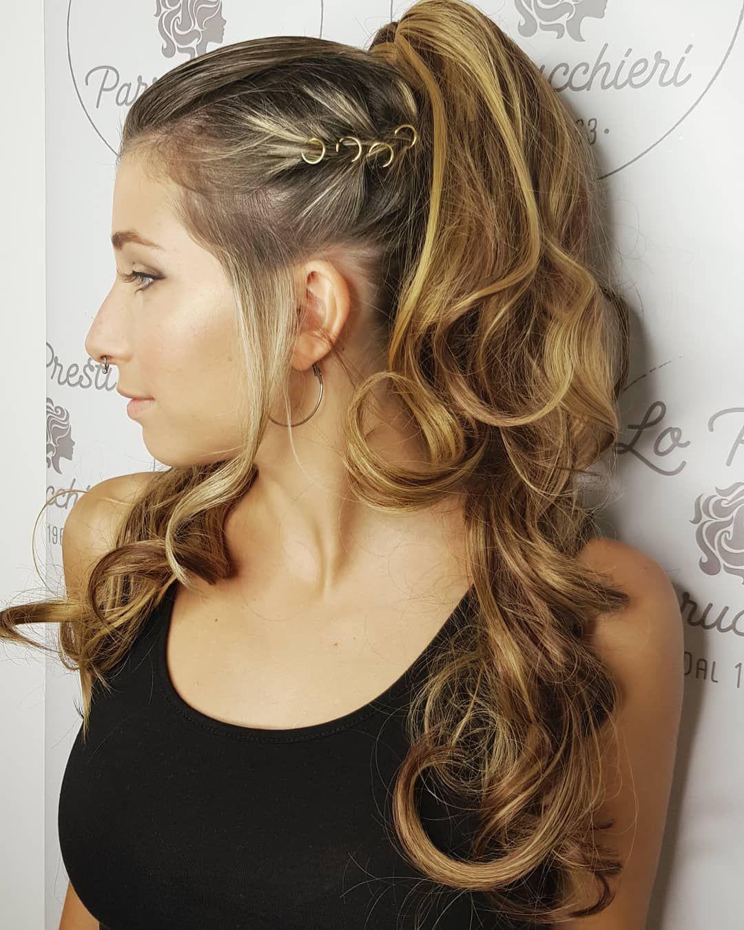 I 18 Anni Di Fabiana Hair Hairdresser Hairart Hairgoals Haircolor Hairstyle Ponytail Birthday Birthdaypart Hair Party Hairstyles Hair Styles