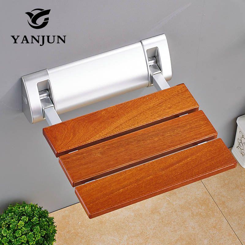 YANJUN Folding Bath Shower Seat Wall Mounted Relaxation Shower Chair ...