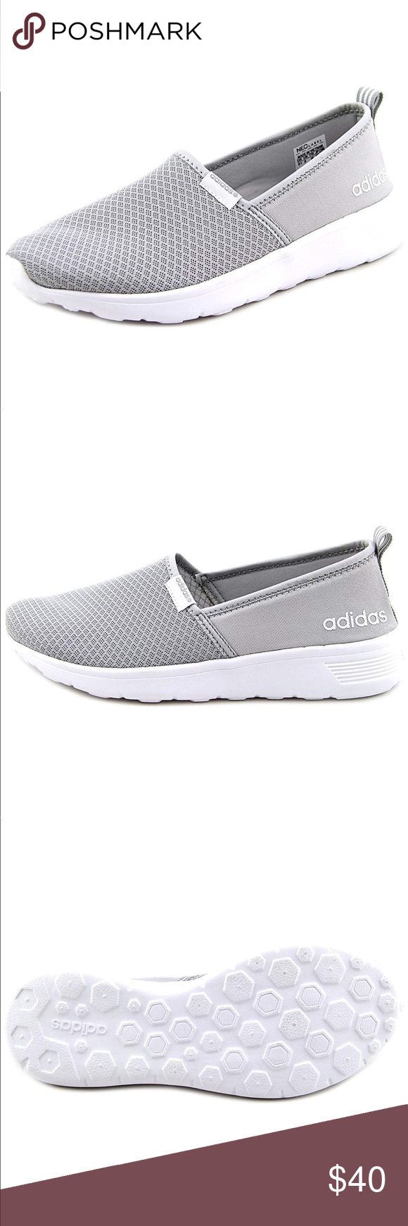 24678886e412 Gray Adidas Memory Foam Slip On Trainers I die!! These shoes are  everything! I was so obsessed with them I got them in an 8 even though I  wear a size 7