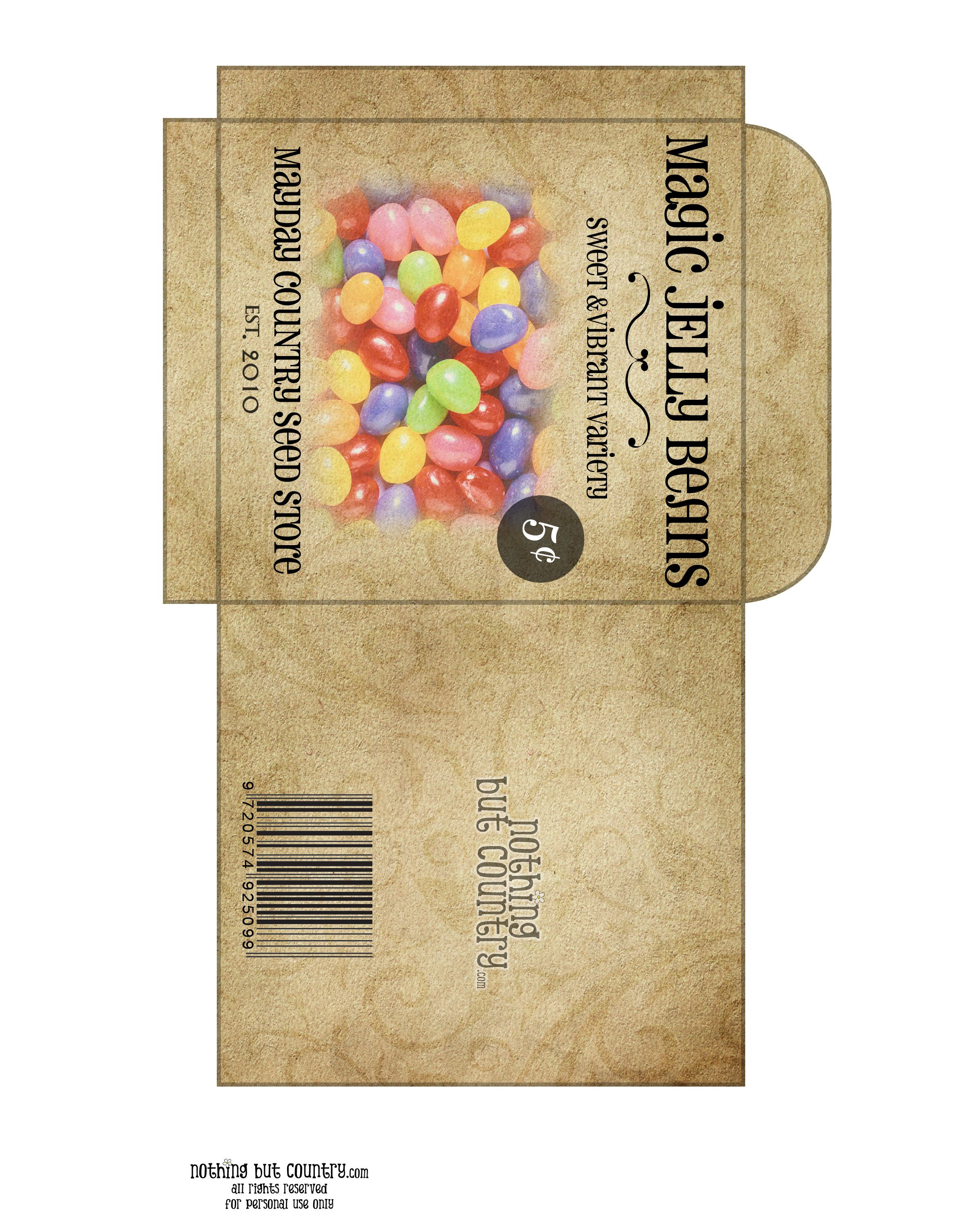Magic Jelly Beans Seed Packet Free Printable From Nothingbutcountry