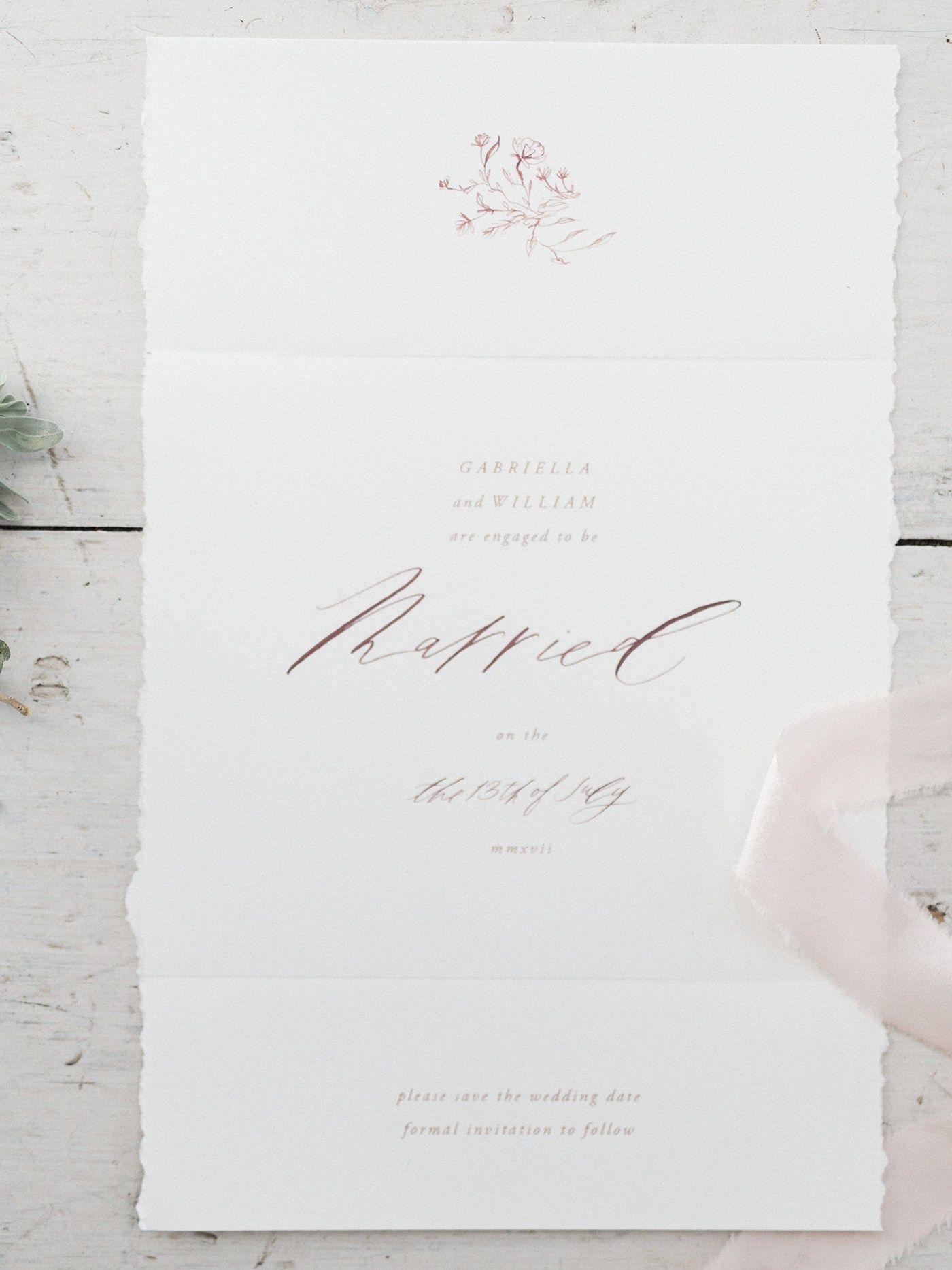 Fine Art Invitation Designs // Summer Sunset Wedding Inspiration ...