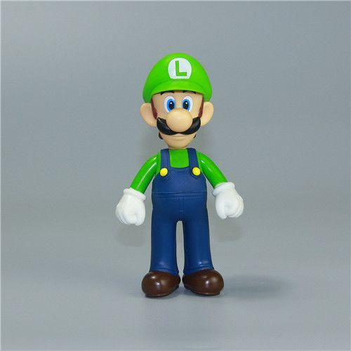 Super Mario Bros Action Figure 12cm 4 7 Pvc Toy Doll Mario Luigi