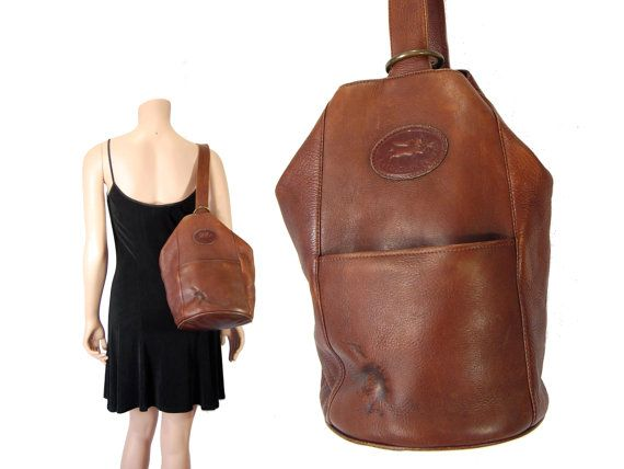 Brown Leather Sling Bag // Sling Backpack // American Angel ...