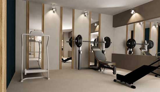 Home Gym Design: Simple,clean,minimalist Home Gym. [Home Gym Design Ideas