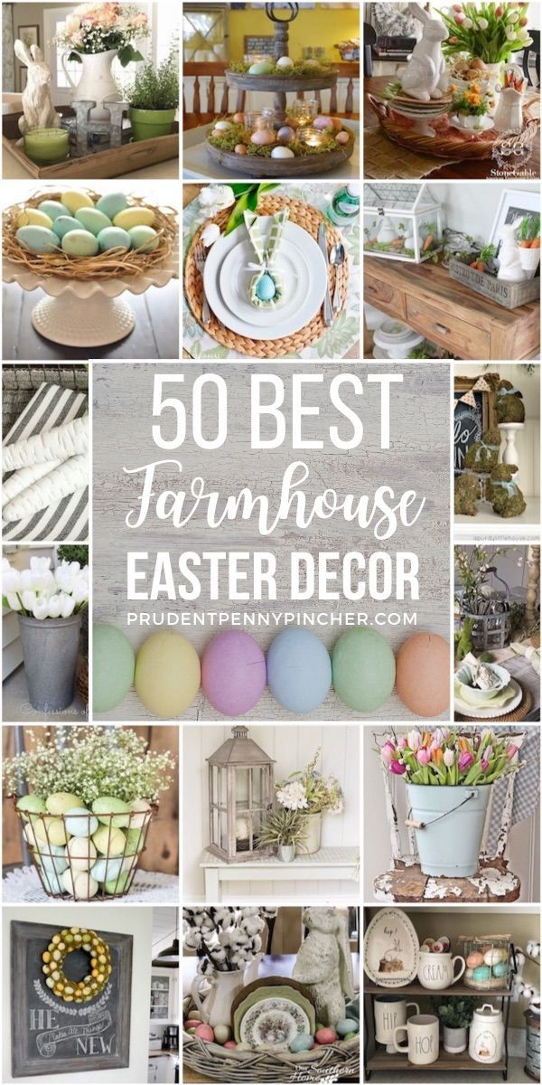 Photo of 50 Best Farmhouse Easter Decorations