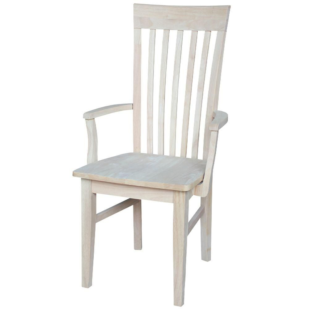 International Concepts Unfinished Wood Mission Dining Chair C 465a Dining Chairs Dining Arm Chair Real Wood Furniture