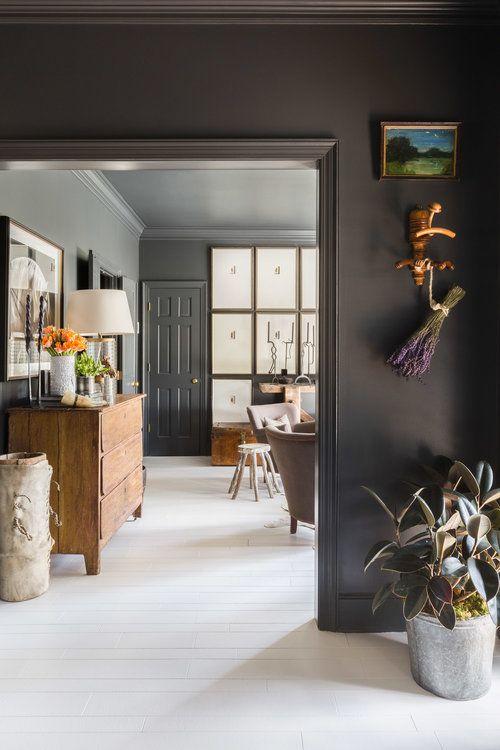 Juxtaposition Of Moody Airy Sean Anderson Home Black Rooms