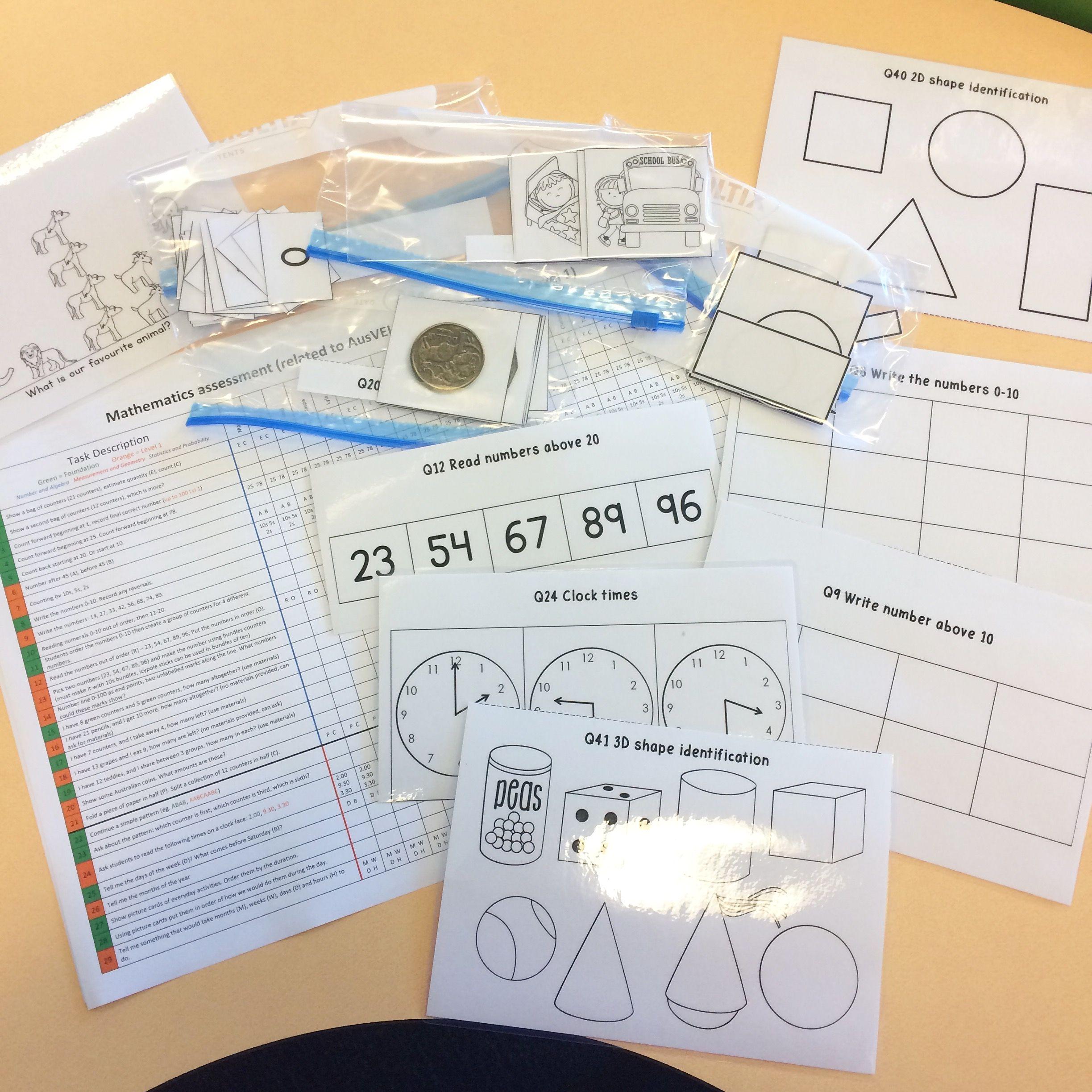Maths Assessment Aligned To Ausvels And Australian