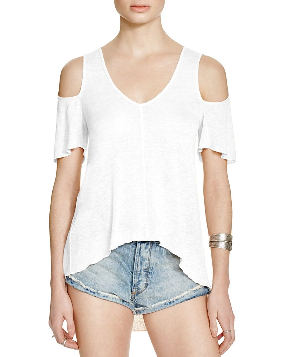 e2866c452eab1e FREE PEOPLE Free People Bittersweet Cold-Shoulder Tee.  freepeople  cloth