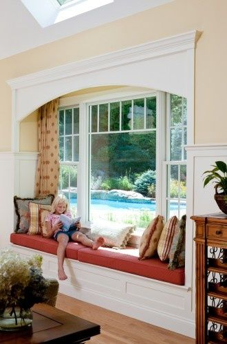 This Window With Windowseat Was Added To The Family Room To Give Views To  The Pool Beyond And To Create A Cozy Reading Nook. Lawrence, MA.