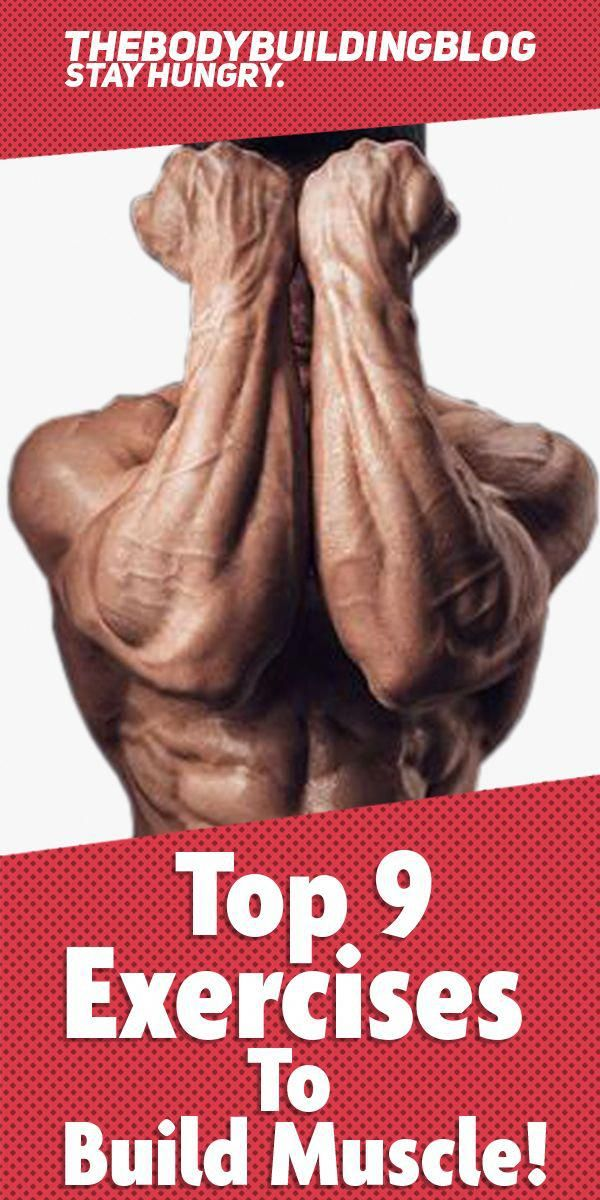 Check out the Top 9 exercises to build muscle! #fitness #gym #exercise #workout #muscle #musclefitne...