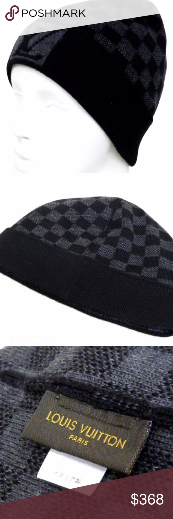 0466df33028 Louis Vuitton Damier Graphite Beanie 223669 OVERALL EXCELLENT+ CONDITION (  9.25 10 or A+ )