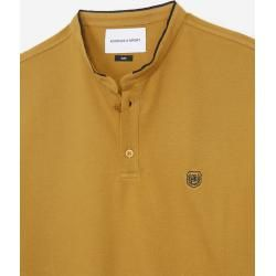 Photo of The Kooples – Yellow insignia slim fit polo with buttons – Damenthekooples.com