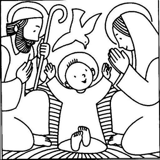 Dibujos Del Nacimiento De Jesus Para Colorear Patchwork Sin Aguja