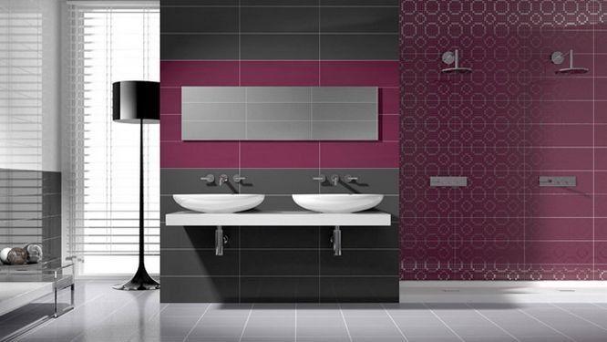 Quand le carrelage crée le décor de la salle de bains - photo faience salle de bain