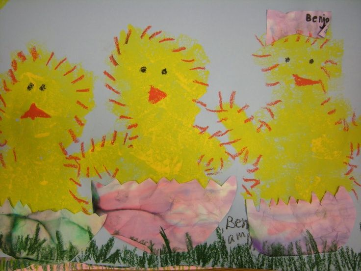 Spring chicks Easter art project Spring chicks Easter art project
